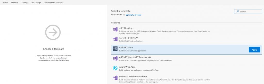 Build definition Visual Studio Team Service